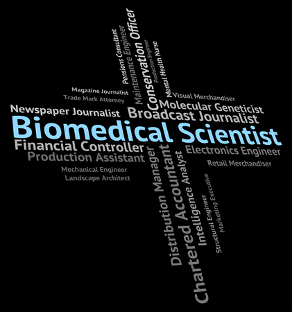 biomedical: Biomedical Scientist Showing Jobs Hire And Employee Stock Photo