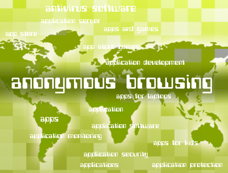 unspecified: Anonymous Browsing Meaning Browser Program And Word Stock Photo