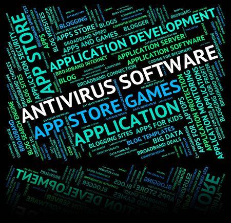 antivirus software: Antivirus Software Representing Firewall Attack And Shareware