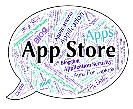 app store: App Store Showing Retail Sales And Commercial Stock Photo