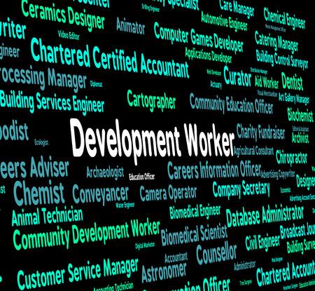 regeneration: Development Worker Indicating Working Woman And Regeneration Stock Photo