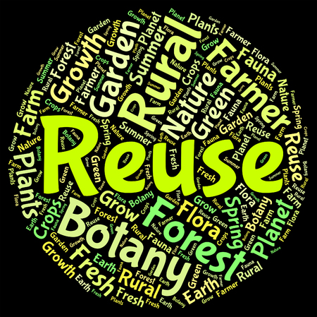 reusing: Reuse Word Indicating Eco Friendly And Reusing