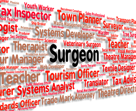 general practitioner: Surgeon Job Showing General Practitioner And Doc Stock Photo