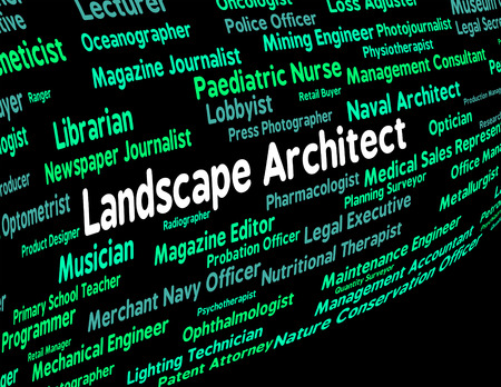 instigator: Landscape Architect Meaning Building Consultant And Creator Stock Photo