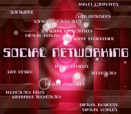 socially: Social Networking Representing Global Communications And Group