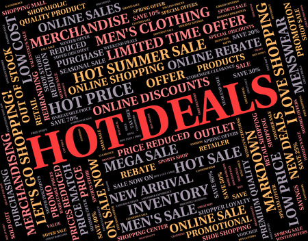 unsurpassed: Hot Deals Indicating Number One And Text
