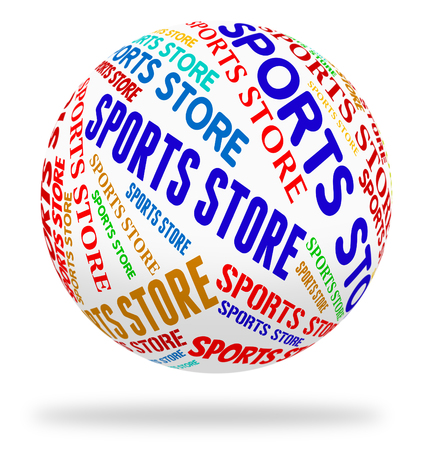 commercial activity: Sports Store Meaning Retail Sales And Merchandise