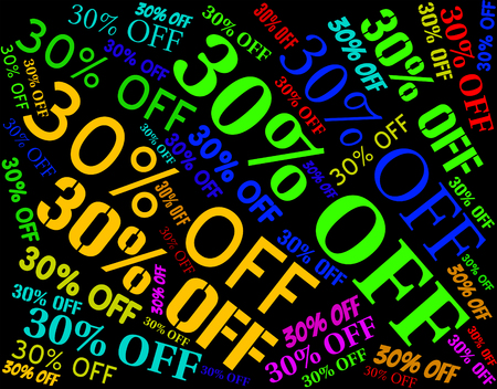 thirty percent off: Thirty Percent Off Meaning Clearance Bargains And Offer