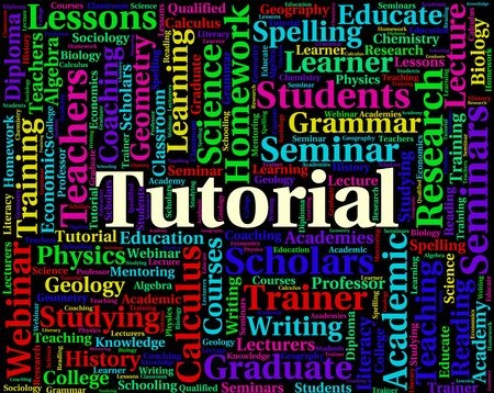 tutorials: Tutorial Word Representing Online Tutorials And Learned Stock Photo