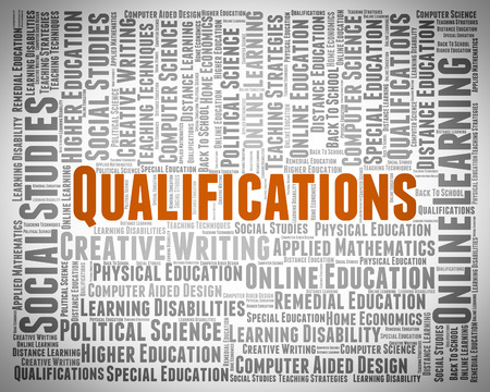 competent: Qualifications Word Showing Certificated Certified And Chartered Stock Photo