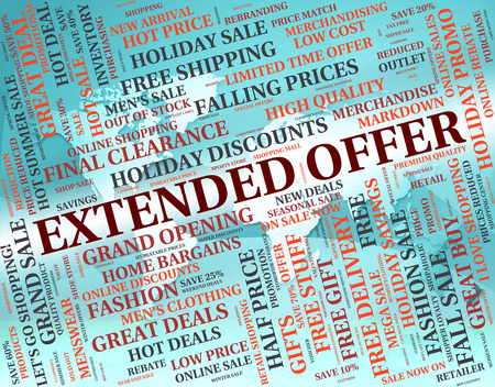 continued: Extended Offer Showing Save Words And Sales