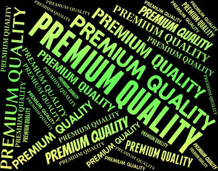 unrivalled: Premium Quality Showing Number One And Approval Stock Photo