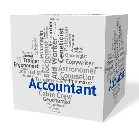 auditor: Accountant Job Showing Balancing The Books And Book Keeper