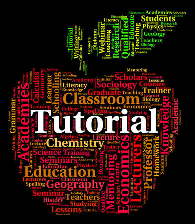 tutoriels: Tutorial Word Indicating Online Tutorials And Learn