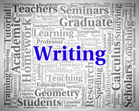 penmanship: Writing Word Representing Text Handwriting And Penmanship
