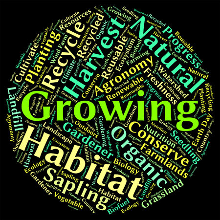 siembra: Creciendo Palabra Mostrando Texto Granjas Y Siembra