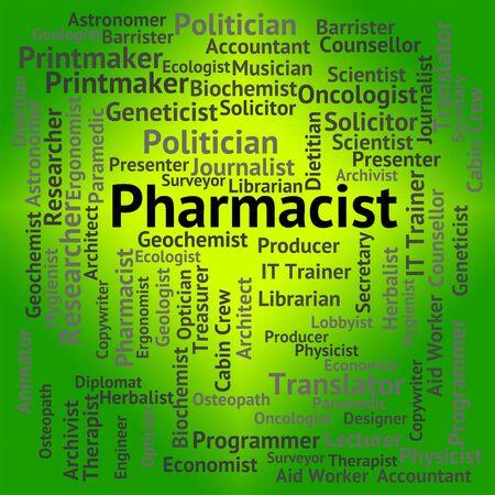 Pharmacist Job Representing Lab Technician And Career Imagens - 46510995