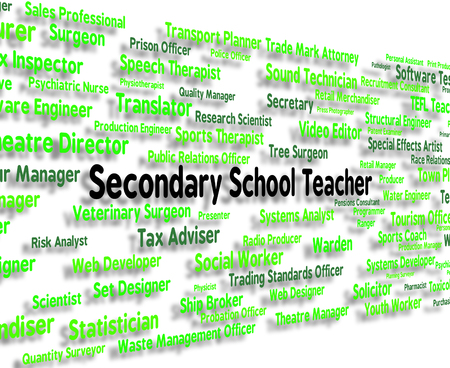 preparatory: Secondary School Teacher Indicating Senior Schools And Career