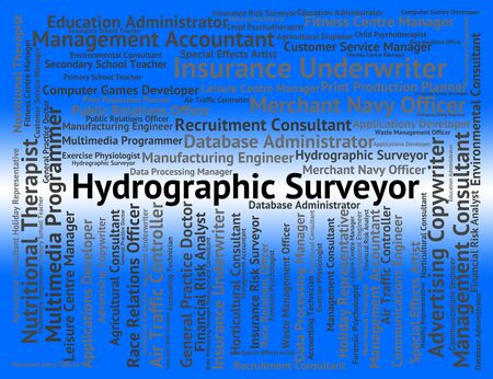 oceanic: Hydrographic Surveyor Meaning Oceanic Position And Hire Stock Photo