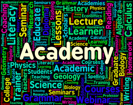 Academy Word Indicating College Polytechnic And Schools