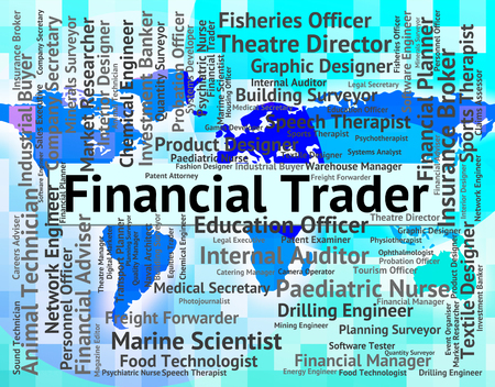 importer: Financial Trader Meaning Finance Text And Hiring Stock Photo