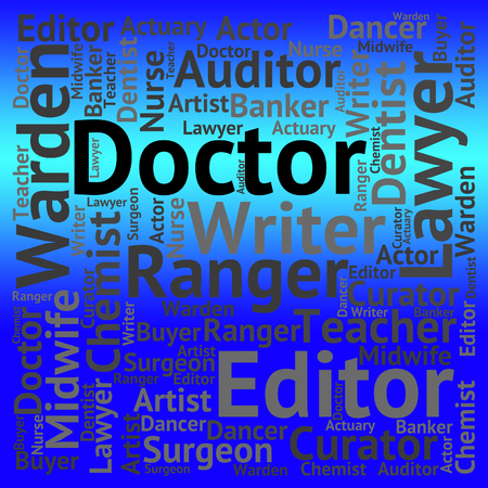 general practitioner: Doctor Job Indicating General Practitioner And Words