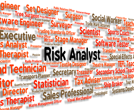insecure: Risk Analyst Meaning Hazard Insecure And Text Stock Photo