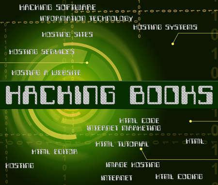 unauthorized: Hacking Books Indicating Malware Non-Fiction And Unauthorized Stock Photo