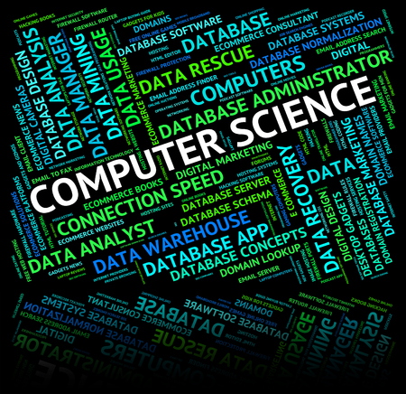 computer science: Computer Science Meaning Information Technology And Text Stock Photo