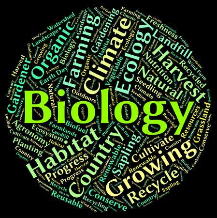 biologia: Palabra Biolog�a Indicando la vida vegetal y Fauna