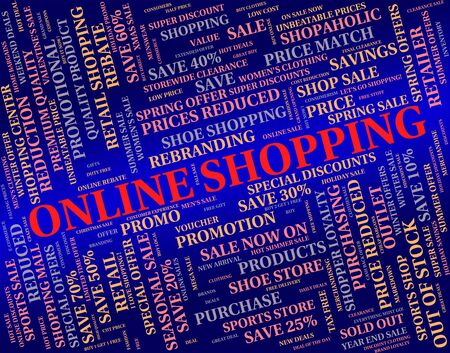 commercial activity: Online Shopping Showing World Wide Web And Commercial Activity