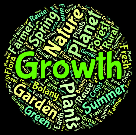 sow: Growth Words Showing Growing Farming And Sow Stock Photo