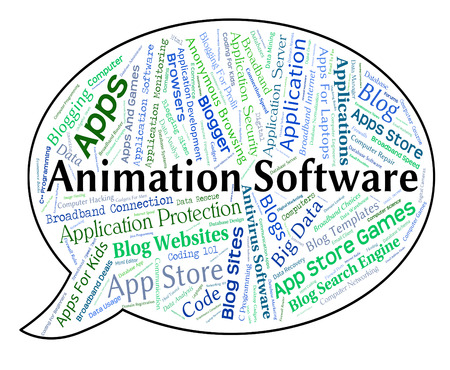 shareware: Animation Software Indicating Shareware Text And Words