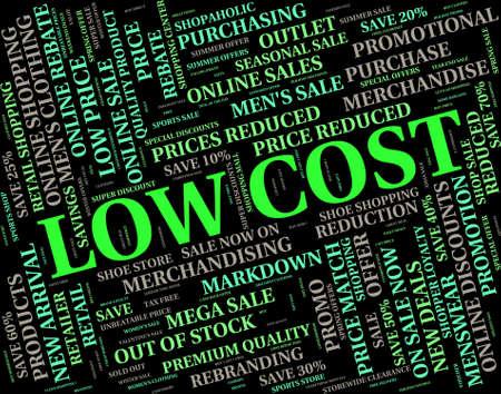 Low-Cost-Stellvertretend für preisgünstige und Budget