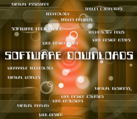 shareware: Software Downloads Indicating Www Word And Downloaded