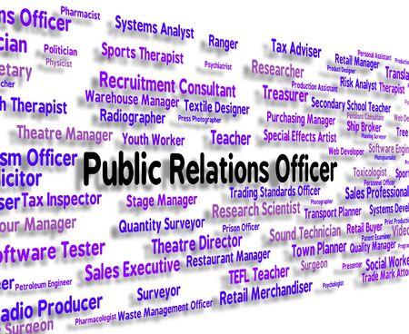 relaciones publicas: Oficial de Relaciones Públicas Mostrando Prensa y ocupaciones