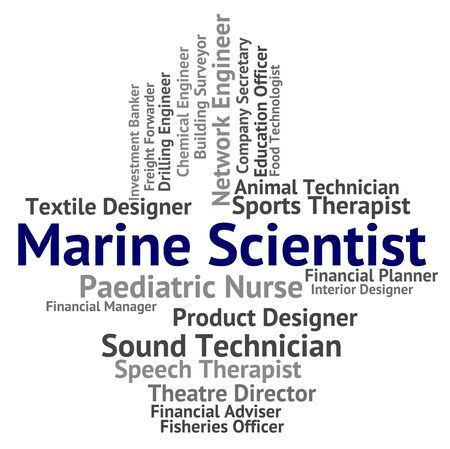 oceanic: Marine Scientist Indicating Oceanic Seagoing And Technologist