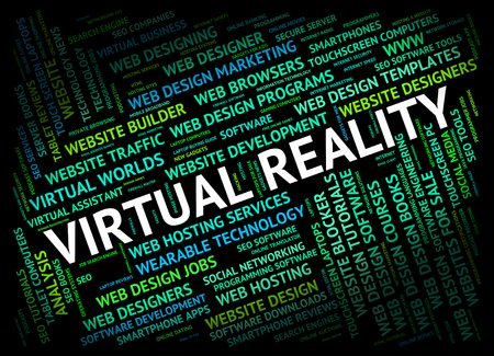 independent contractor: Virtual Reality Meaning Independent Contractor And Realities Stock Photo