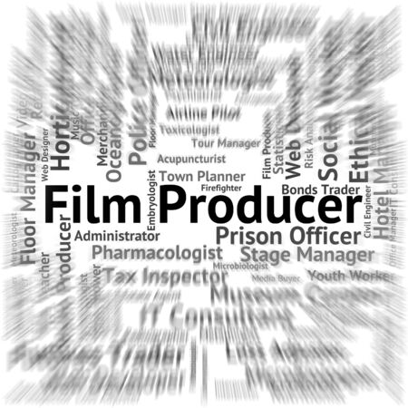 producer: Film Producer Meaning Jobs Recruitment And Hire Stock Photo