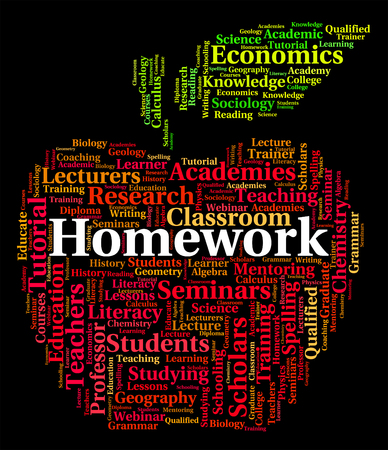 lernte: Homework Word Meaning Learned Learn And Text