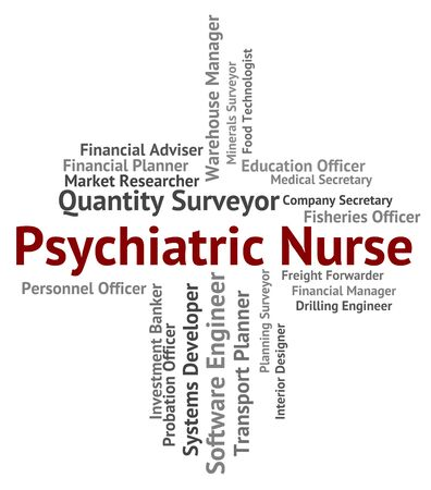 matron: Psychiatric Nurse Meaning Mental Disorder And Occupations Stock Photo