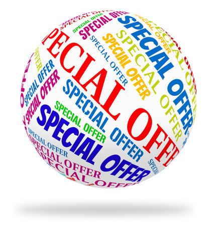 notable: Special Offer Representing Unique Closeout And Notable Stock Photo