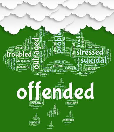 irked: Offended Word Meaning Put Out And Wordclouds