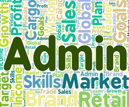 governing: Admin Word Indicating Governing Management And Direction Stock Photo
