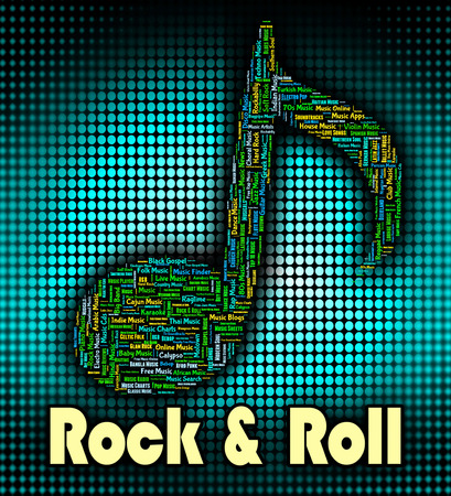 melodies: Rock And Roll Meaning Sound Track And Tune Stock Photo
