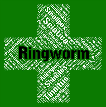 fungal: Ringworm Word Representing Fungal Infection And Infections Stock Photo