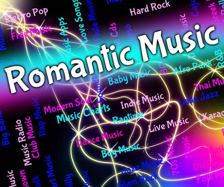melodias: Romantic Music Representing Tender Hearted And Melodies