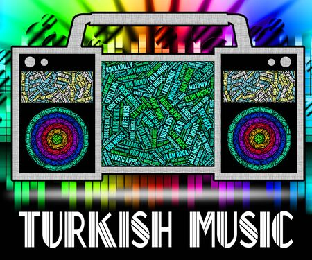 soundtrack: Turkish Music Showing Central Asian And Acoustic Stock Photo