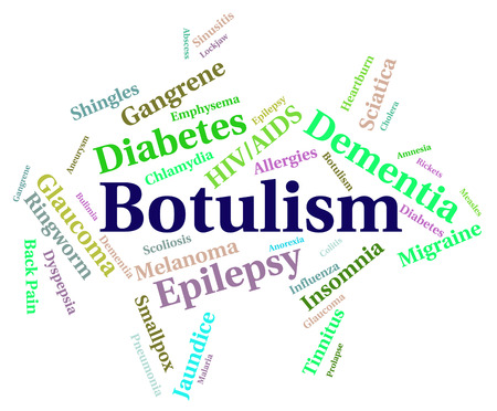 afflictions: Botulism Illness Representing Food Poisoning And Afflictions Stock Photo