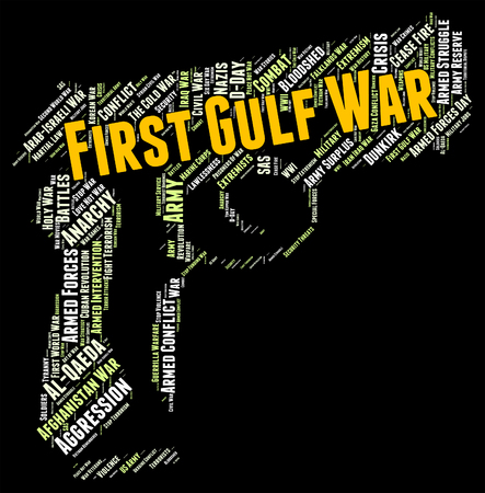 hostility: First Gulf War Representing Operation Desert Shield And Operation Desert Shield Stock Photo